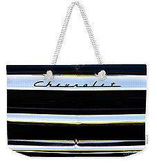 Weekender Tote Bag featuring the photograph Chevrolet Styleline Abstract by Tim Gainey