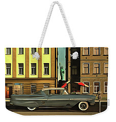 Chevrolette Impala At The Big Apple Weekender Tote Bag