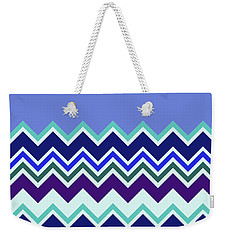 Chevron Lavender Turquoise Blue Purple Zigzag Pattern Weekender Tote Bag