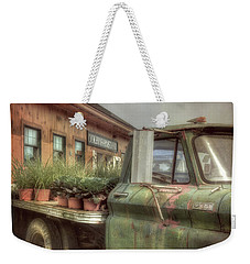 Weekender Tote Bag featuring the photograph Chevy C 30 Pickup Truck - Colby Farm by Joann Vitali