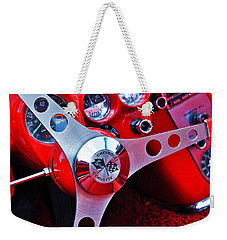 Chevy Corvettte Steering Wheel Weekender Tote Bag