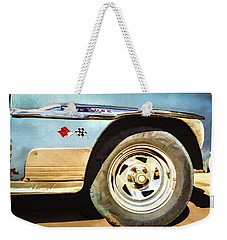 Weekender Tote Bag featuring the photograph Chevy Deluxe by Lou Novick