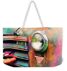 Weekender Tote Bag featuring the photograph Chevy Firetruck  by Ayasha Loya