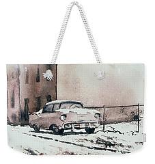Chevy In Snow Weekender Tote Bag