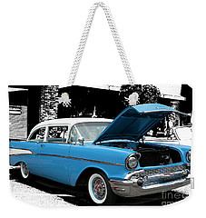 Weekender Tote Bag featuring the photograph Chevy Love by Victoria Harrington