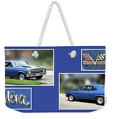 Chevy Nova Horizontal Weekender Tote Bag