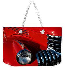 Chevy Red Weekender Tote Bag by Linda Bianic