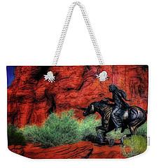 Cheyenne War Pony And Warrior  ... Weekender Tote Bag