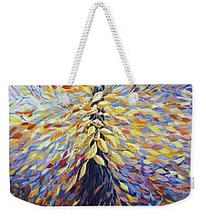 Weekender Tote Bag featuring the painting Chi Of The Mighty Tree by Joanne Smoley
