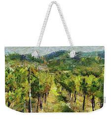 Chianti Vineyards Weekender Tote Bag by Dragica Micki Fortuna