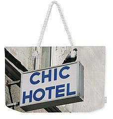 Chic Hotel Weekender Tote Bag