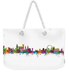 Chicago And St Louis Skyline Mashup Weekender Tote Bag
