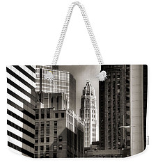 Chicago Architecture - 13 Weekender Tote Bag by Ely Arsha