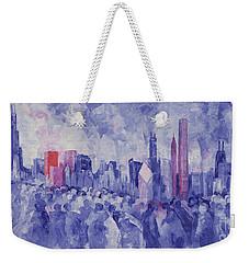 Chicago Weekender Tote Bag by Bayo Iribhogbe