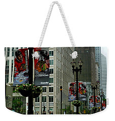 Chicago Blackhawk Flags Weekender Tote Bag
