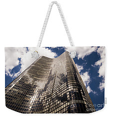 Weekender Tote Bag featuring the photograph Chicago Building by Zawhaus Photography