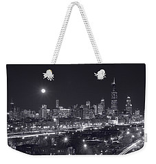 Chicago By Night Weekender Tote Bag