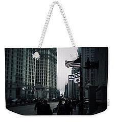 Chicago City Fog Weekender Tote Bag by Frank J Casella
