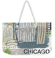 Chicago Cityscape- Art By Linda Woods Weekender Tote Bag