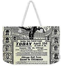 Chicago Cub Poster Weekender Tote Bag