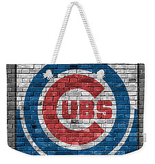 Chicago Cubs Brick Wall Weekender Tote Bag