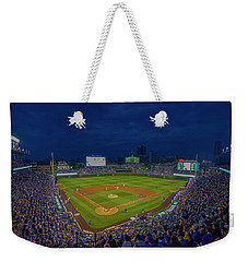 Chicago Cubs Wrigley Field 9 8357 Weekender Tote Bag by David Haskett