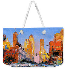 Chicago Downtown Street Weekender Tote Bag