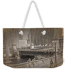 Chicago Dusable Bridge Street Scene Weekender Tote Bag