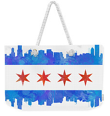 Chicago Flag Watercolor Weekender Tote Bag
