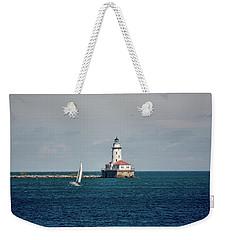 Chicago Harbor Lighthouse Weekender Tote Bag by John Black