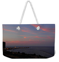 Chicago Lakefront At Sunset Weekender Tote Bag
