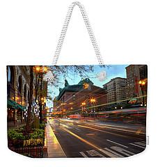 Chicago Lights Hustle Bustle Weekender Tote Bag