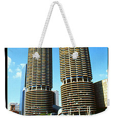 Chicago Marina City - Poster Art Weekender Tote Bag by Art America Gallery Peter Potter