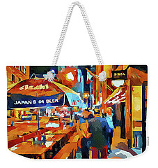Chicago Night Time Weekender Tote Bag