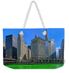 Chicago On St. Patrick's Day Weekender Tote Bag