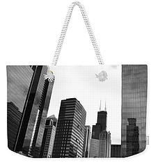 Chicago River And Willis Tower Weekender Tote Bag