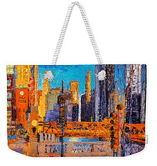 Chicago River Bridges Weekender Tote Bag