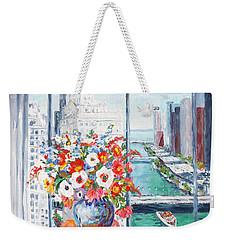 Chicago River Weekender Tote Bag