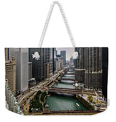 Chicago River Weekender Tote Bag by Randy Scherkenbach