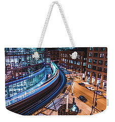 Chicago S Train Weekender Tote Bag