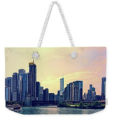 Chicago Skyline And Chicago River Weekender Tote Bag