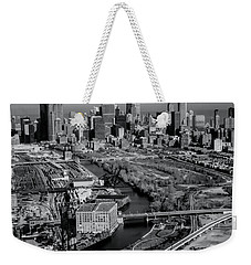 Chicago Skyline And River Weekender Tote Bag