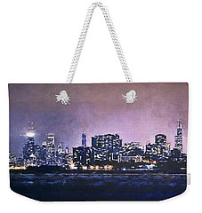 Chicago Skyline From Evanston Weekender Tote Bag by Scott Norris