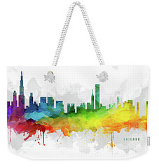 Chicago Skyline Mmr-usilch05 Weekender Tote Bag by Aged Pixel