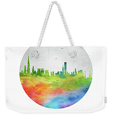 Chicago Skyline Usilch20 Weekender Tote Bag by Aged Pixel