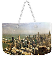 Chicago Skyline With Navy Pier Weekender Tote Bag
