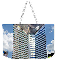 Weekender Tote Bag featuring the painting Chicago Smurfit-stone Building by Christopher Arndt