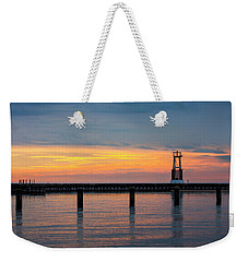 Weekender Tote Bag featuring the photograph Chicago Sunrise At North Ave. Beach by Adam Romanowicz