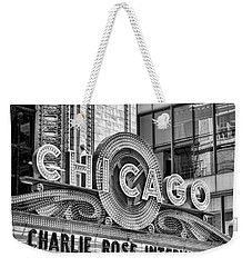 Chicago Theatre Marquee Black And White Weekender Tote Bag