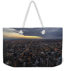 Weekender Tote Bag featuring the photograph Chicago Westward by Steven Sparks